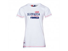 Dámske tričko SLOVAKIA STAR WHITE
