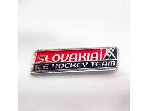 Odznak SLOVAKIA ICE HOCKEY TEAM kovový veľký