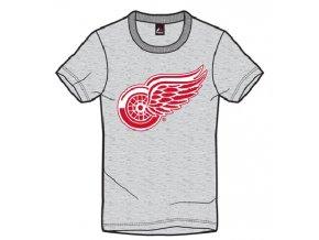 Tričko Detroit Red Wings Majestic Jask - sivé