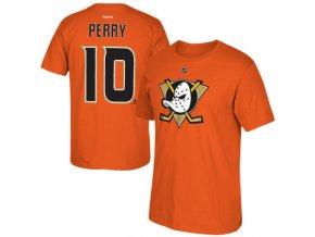 Tričko #10 Corey Perry Anaheim Ducks Orange