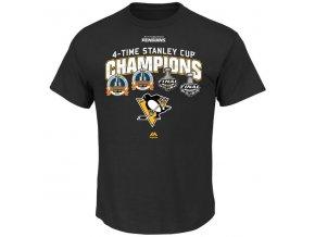 Tričko Pittsburgh Penguins 2016 Stanley Cup Champions History Repeated Triple Peak