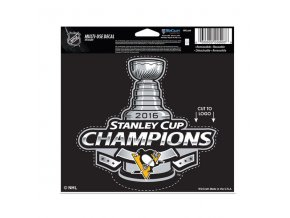 "Samolepka Pittsburgh Penguins 2016 Stanley Cup Champions 4"" x 6"" Multi-Use"