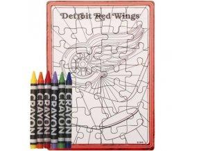 Detroit Red Wings puzzle s vlastným vyfarbením