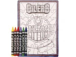 Edmonton Oilers puzzle s vlastným vyfarbením