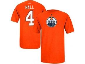 Tričko Taylor Hall #4 Edmonton Oilers - oranžové