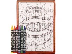 Montreal Canadiens puzzle s vlastným vyfarbením