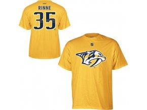 Tričko Pekka Rinne #35 Nashville Predators - žlté