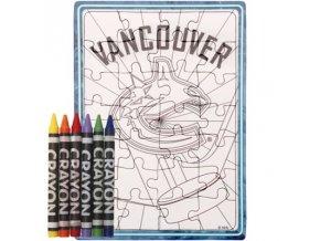 Vancouver Canucks puzzle s vlastným vyfarbením