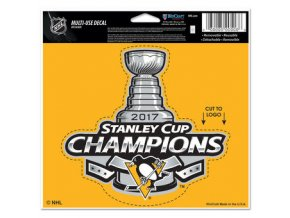 Samolepka Pittsburgh Penguins 2017 Stanley Cup Champions 12.5 x 15