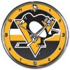 Hodiny Pittsburgh Penguins WinCraft Chrome Wall Clock