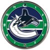 Hodiny Vancouver Canucks WinCraft Chrome Wall Clock