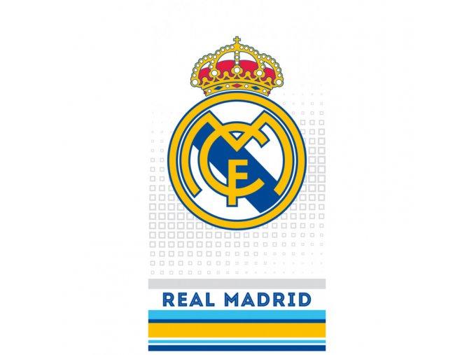 Fotbalová osuška Real Madrid Cubes Grey