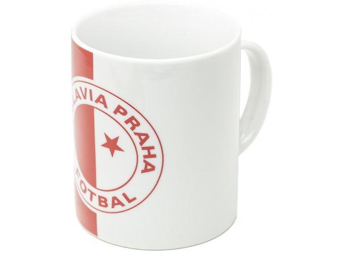 Červenobílý hrnek Slavia 0,32 litrů