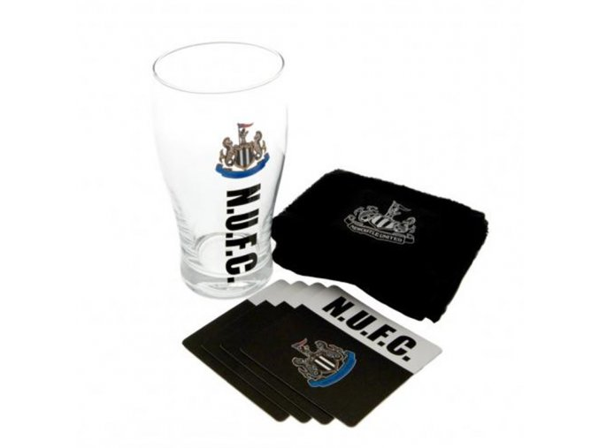 Barová sada Newcastle United FC (půllitr, tácky, utěrka)