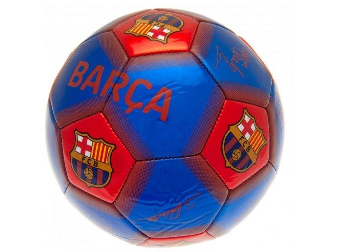 Fotbalový Míč Barcelona FC S Podpisy Hráčů nw