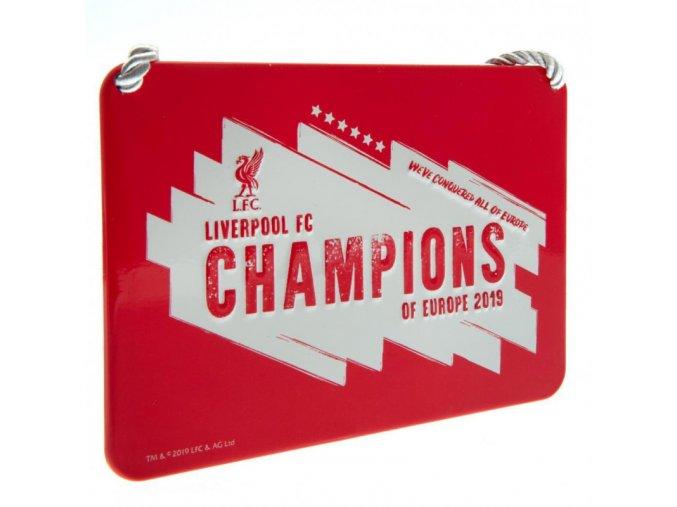 Cedule Liverpool FC Pokojíček Champions Of Europe