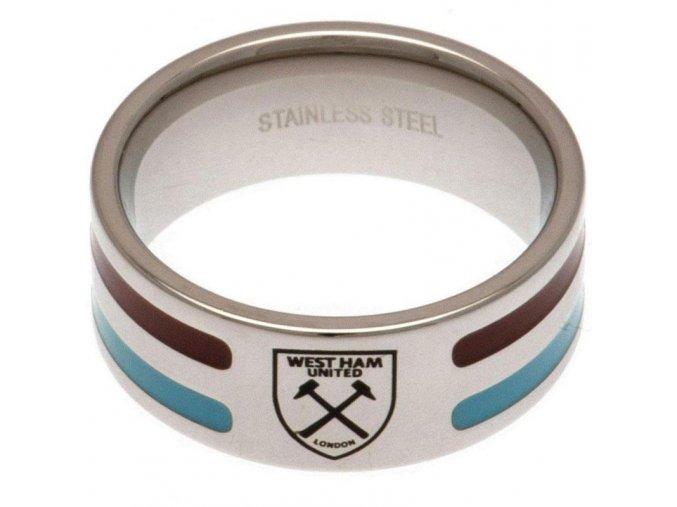 Prstýnek West Ham United FC Colour Stripe S