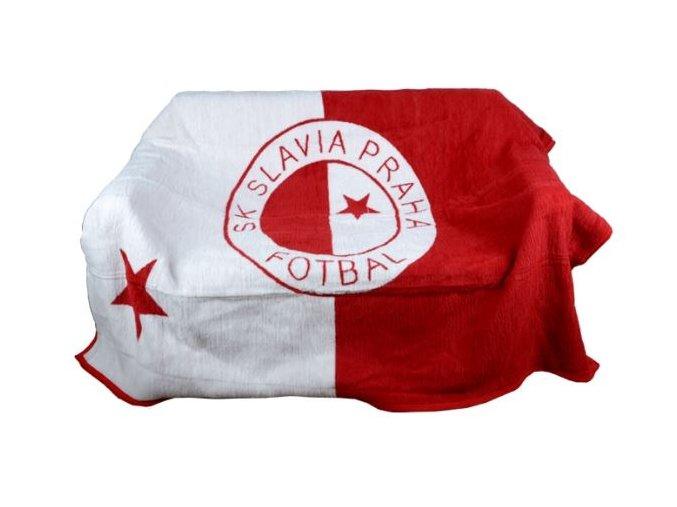 Deka s logem Slavia fotbal