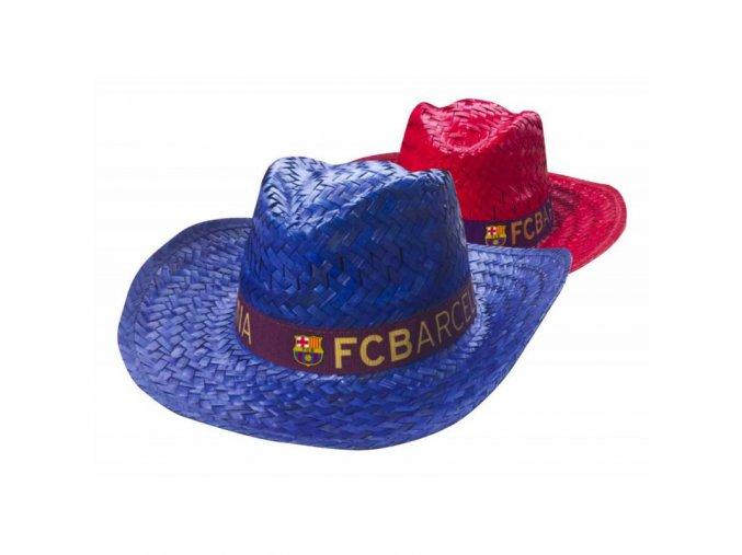 Klobouk Barcelona FC červený