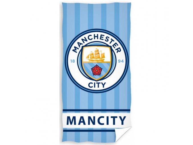 Fotbalová osuška Manchester City Stripes