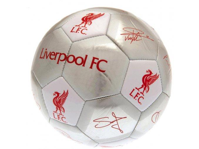 Fotbalový Míč Liverpool FC s podpisy hráčů sv