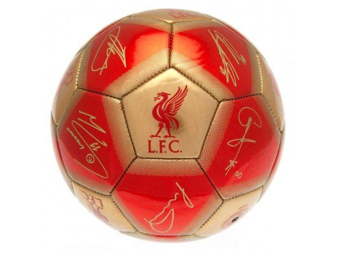 Fotbalový Míč Liverpool FC s podpisy vel. 1