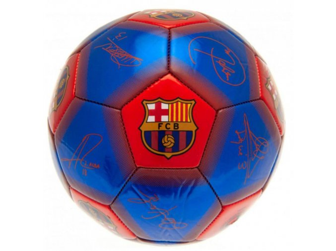 Fotbalový Míč Barcelona FC s podpisy vel. 1 nw
