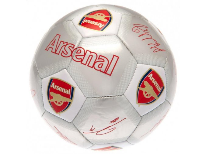 Fotbalový Míč Arsenal FC s podpisy hráčů sv
