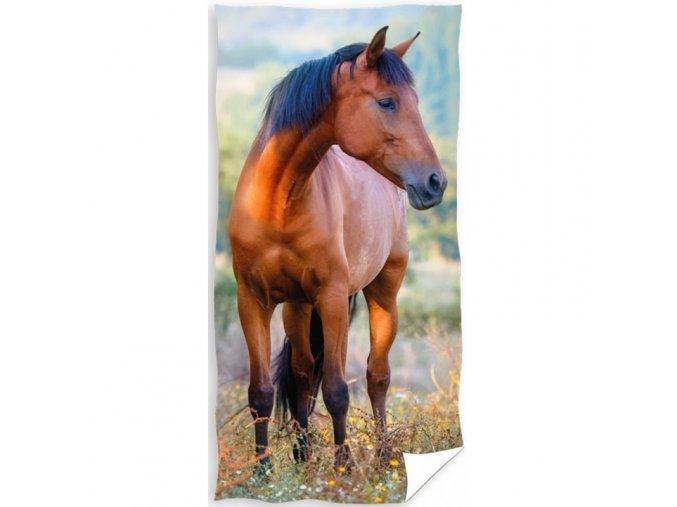 Froté osuška Kůň Hnědák na louce