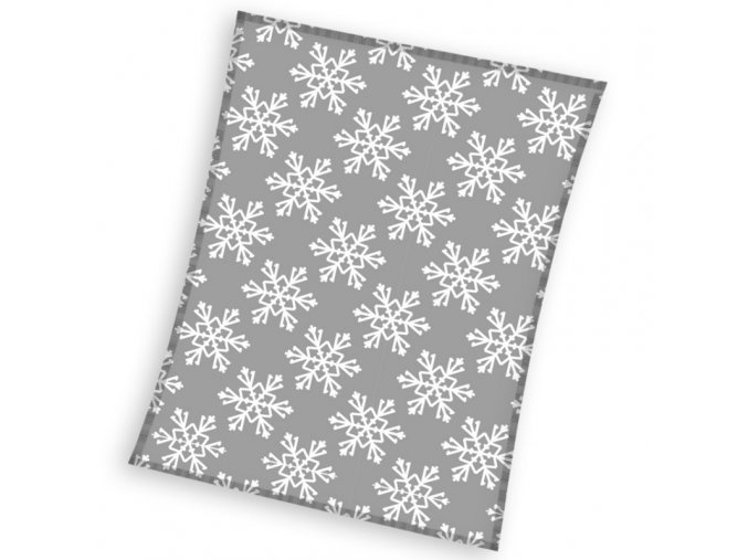 Vánoční deka Vločky 130x170 cm