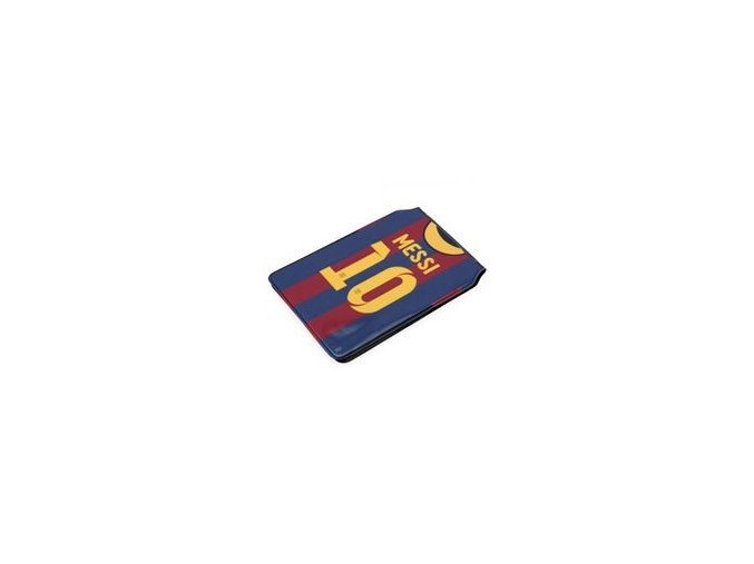 Obal BARCELONA FC na doklady, časovou jízdenku Messi