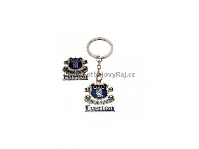 Přívěšek a Odznak Everton FC Sada