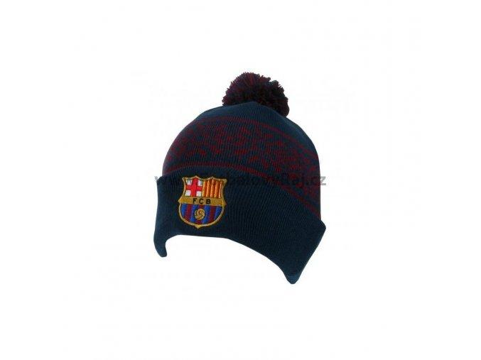 Čepice Barcelona FC lyžařská