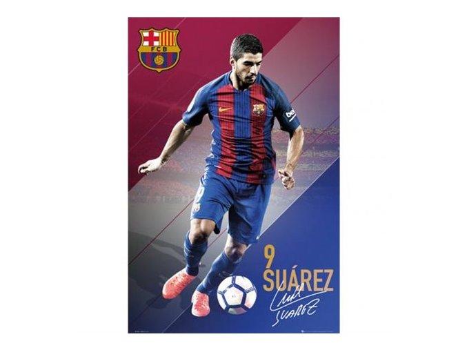Plakát Barcelona FC Suarez 91