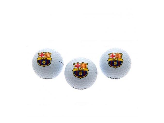 Golfové míčky Barcelona FC sada 3ks