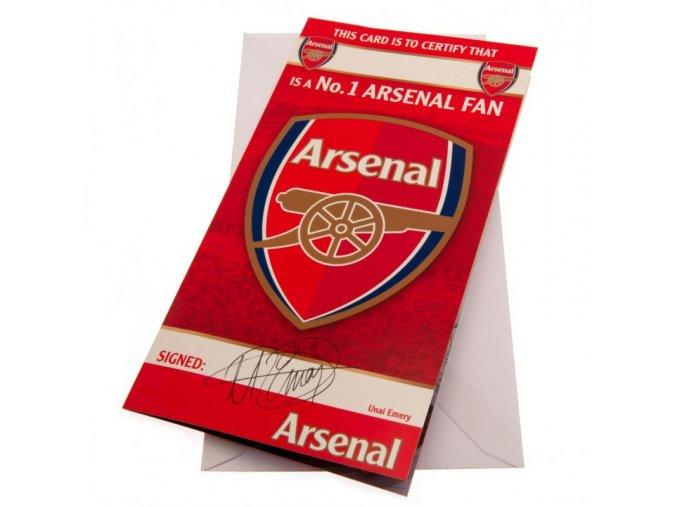 Přání Arsenal FC No 1 Fan