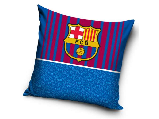 Povlak na polštářek Barcelona FC Half Blue