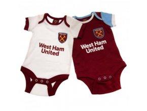 Dětské Body West Ham United FC 9/12 měsíců - 2 kusy