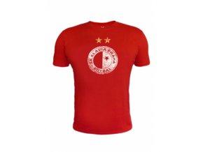 Pánské tričko s odřeným logem Slavia 0361 SK