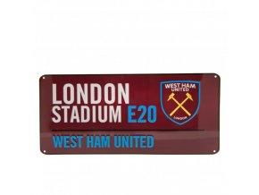 Cedule West Ham United FC Název Ulice cl