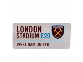 Cedule West Ham United FC Název Ulice