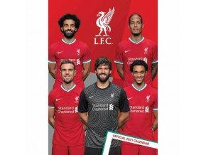 Kalendář Liverpool FC Nástěnný 2021