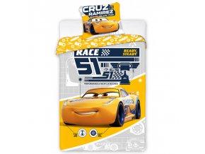 Dětské povlečení Cars 3 Dinoco Cruz Ramirez