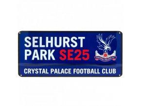 Cedule Crystal Palace FC Název Ulice bl