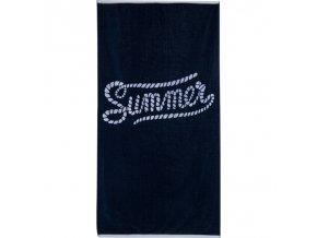 Plážová osuška Summer Modrá