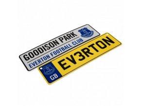 Cedule Everton FC na okno a ledničku 2ks