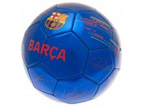Fotbalový Míč Barcelona FC s podpisy hráčů bl