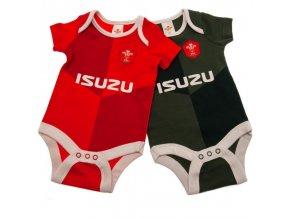 Dětské Body Wales Rugby 3/6 měsíců - 2 kusy qt
