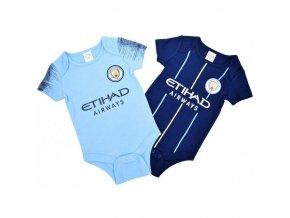 Dětské Body Manchester City FC 6/9 měsíců - 2 kusy nv