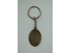 Přívěsek na klíče AC Milán - bronz